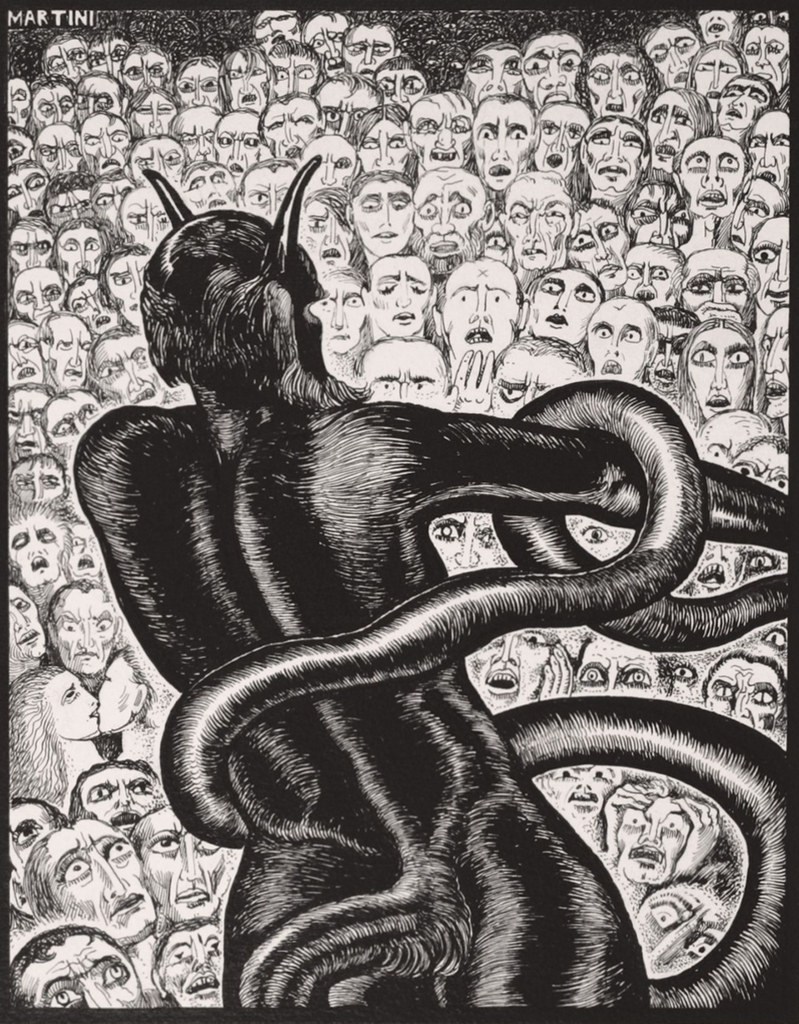 Alberto Martini, Minós (Inferno, V), 1937