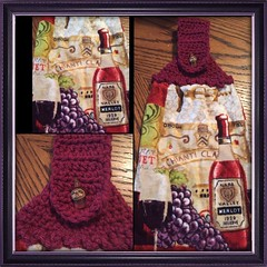 Check out Wine and grapes CROCHET TOP TOWEL by TAMRA https://www.ebay.com/itm/152295402181 @eBay