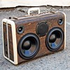 Custom WoodGrain Case with 120v Power outlet built-in for Burning Man back in August - #BoomCase #BoomBox #WoodGrain