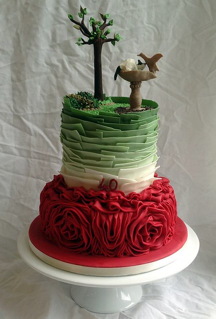 Ruby Wedding Anniversary Cake by Hills Kitchen