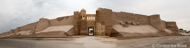 Khiva: south gate and wall