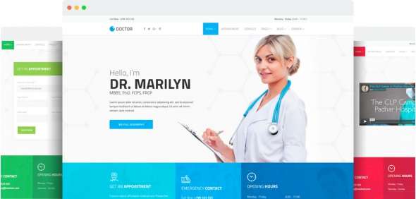 Doctor v1.1 - Medical Clinic Joomla Template