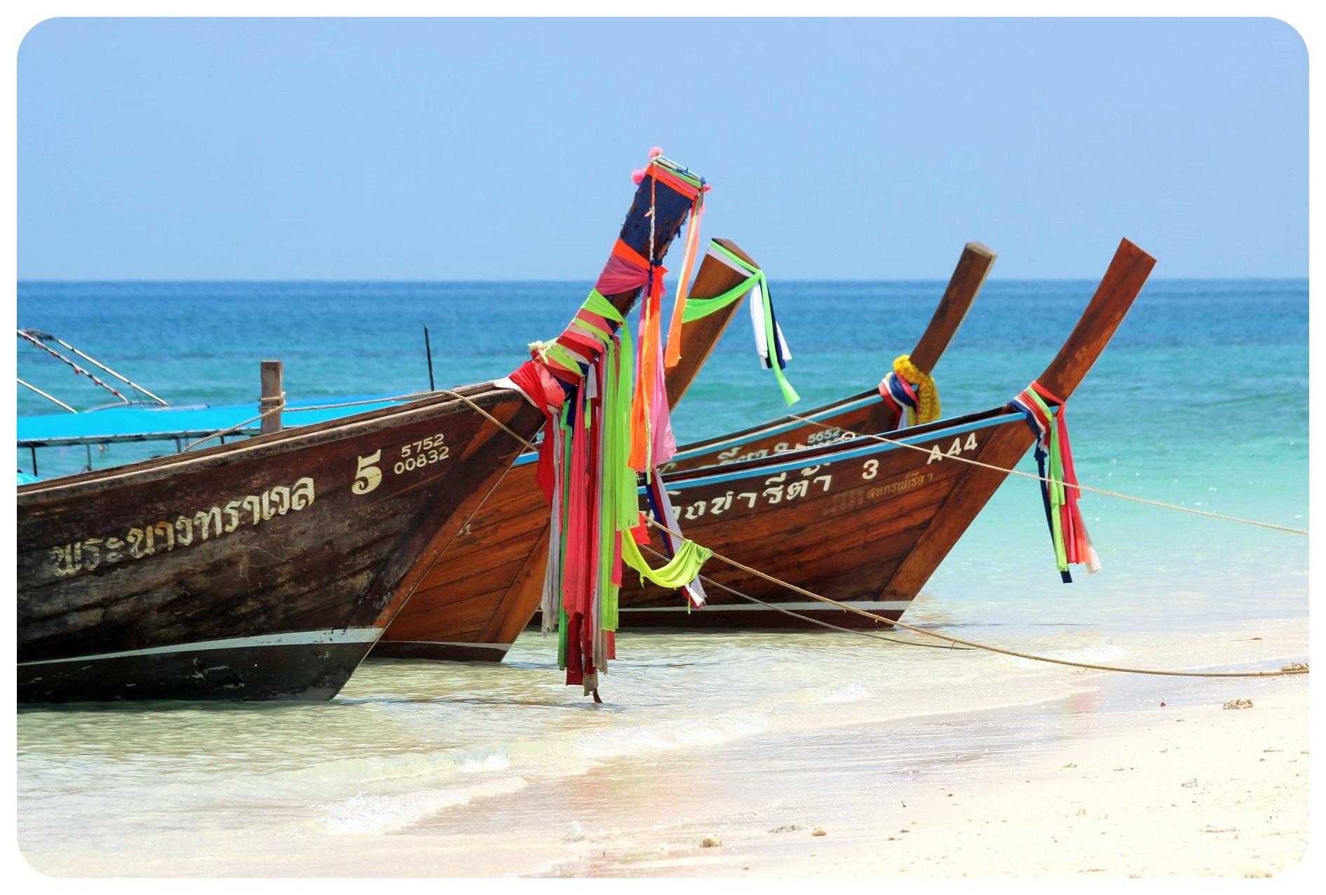 koh poda longtail boats