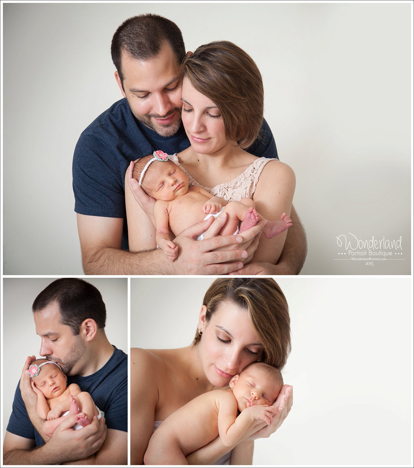 Warminster PA Newborn Photographer Baby and Parents poses | WonderlandPortrait.com