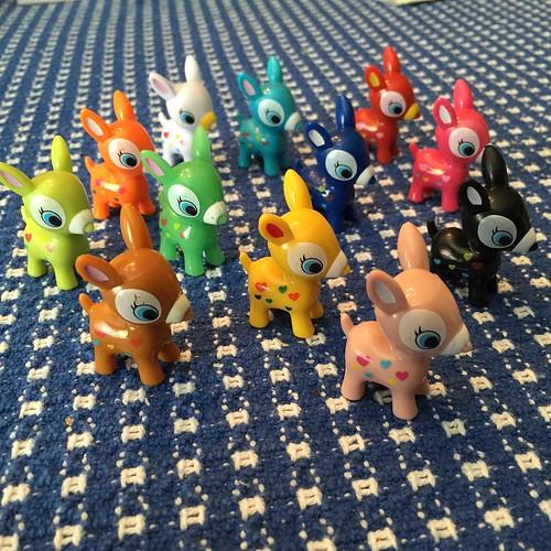 227:365 My own little herd of colorful deer. #puchideer