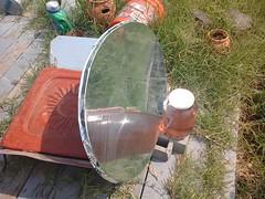 Satellite dish solar reflector (side)
