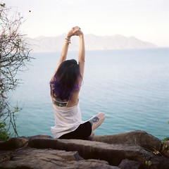 hand, yoga, sunlight, sea, limb, leg, morning, physical fitness, sitting,