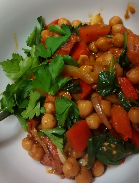 Chorizo with Spanish Chickpeas