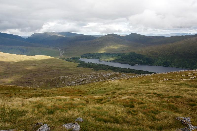 Ben Alder and Loch Ossian from Beinn na Lap