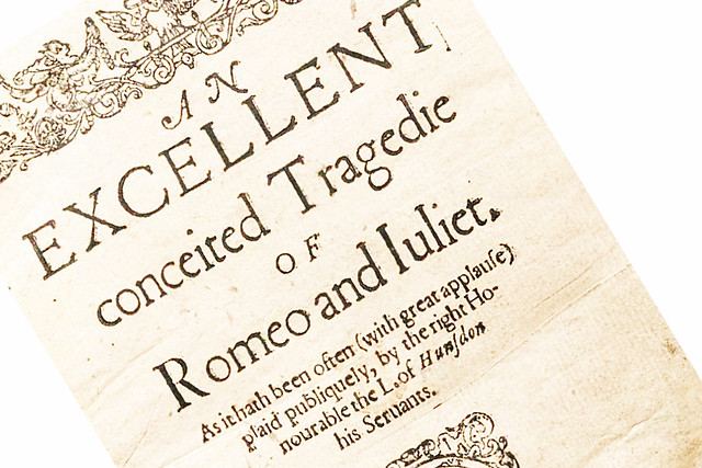 Romeo and Juliet 1597 title page