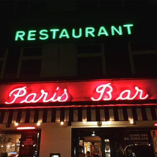Abend essen en Berlin. Just like David & Iggy used to.