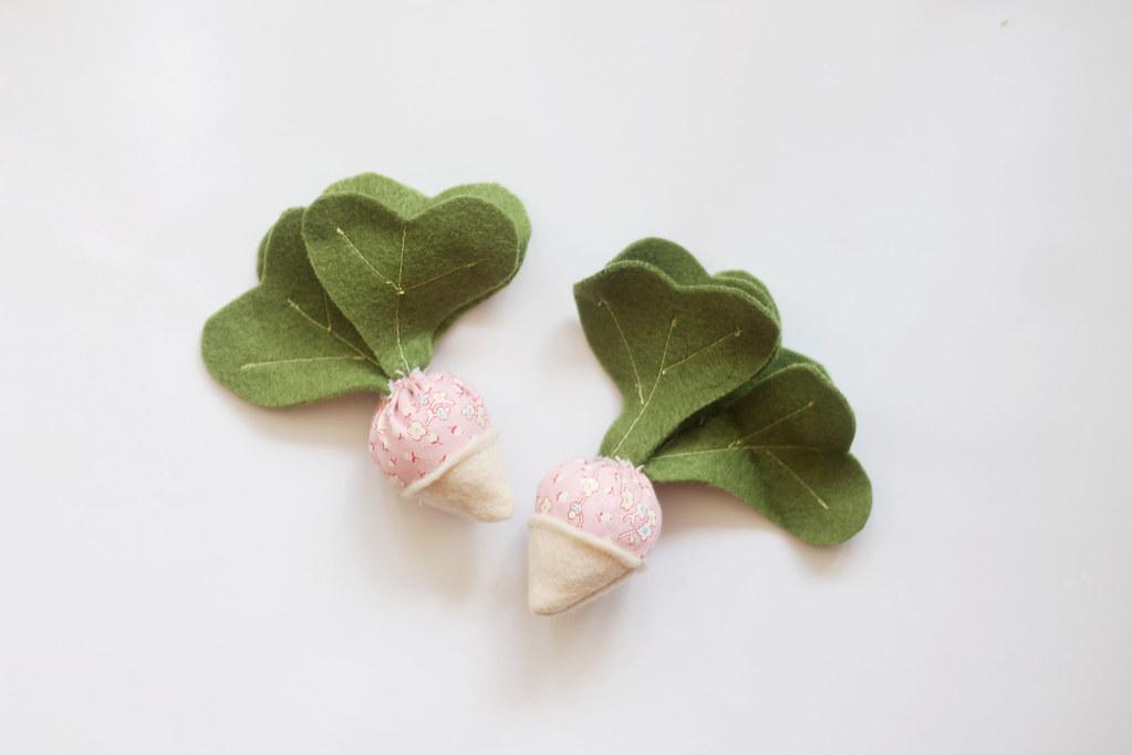 play food - felt and fabric turnips