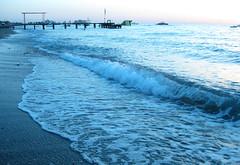 Waves in blue