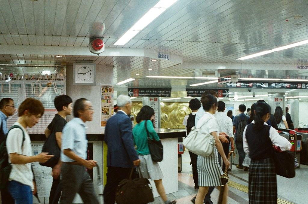 南海難波 大阪 Osaka 2015/09/09 南海難波  Nikon FM2 Nikon AI Nikkor 50mm f/1.4S Kodak UltraMax ISO400 Photo by Toomore