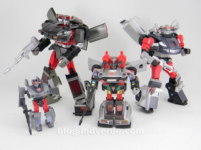 Transformers Streak - Masterpiece - modo robot vs otros Streak