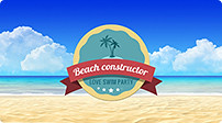 Summer Beach Video Displays. Vacation Travel Theme - 12
