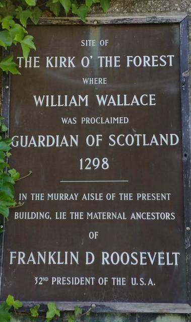 Photo of William Wallace plaque