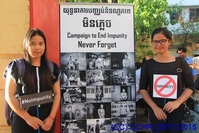 Cambodian Center for Human Rights says #NoImpunity