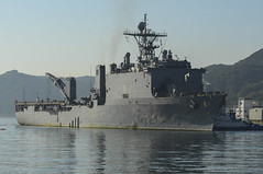 USS Germantown (LSD 42) returns to Fleet Activities Sasebo on Wednesday. (U.S. Navy/MC1 Joshua Hammond)
