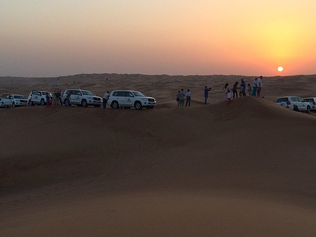 Dubai dunes at sunset