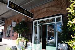Napa River Inn sign and door