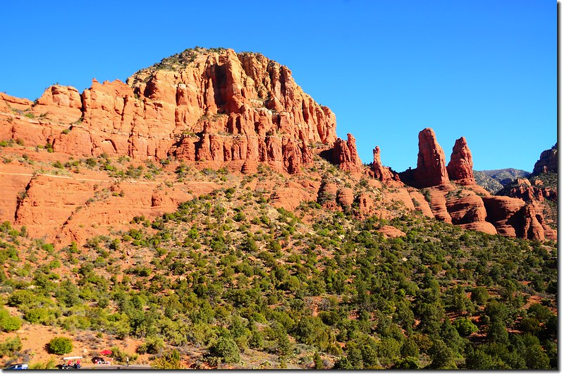 Red Rocks formation from  The Chapel of the Holy Cross