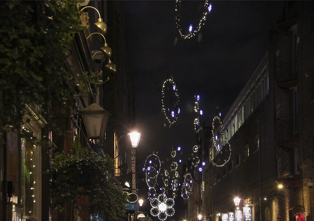 Christmas decoration at Seven Dials
