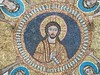 """Jesus Christ Pantokrator"" - Byzantine mosaic, years 817-824 - Santa Prassede Church in Rome"