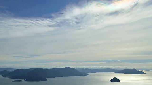獅子岩展望台からの眺め(小黒神島・能美島 他)