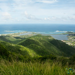View from atop Pic Paradis - St. Martin