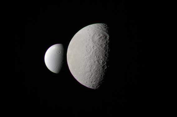 Rhea and Dione - February 3 2011