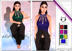 ~ϻ:SOFiA Top and Leggings 7 Colors