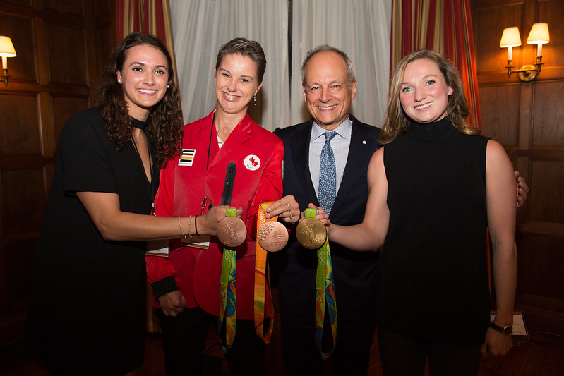 On October 25, 2016, President Meric Gertler and Dean Ira Jacobs of the Faculty of Kinesiology & Physical Education invited students, staff and alumni who had participated in the 2016 Olympic & Paralympic Games in Rio to a reception to celebrate their contributions.