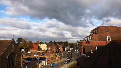Wintery skyline in Horsham