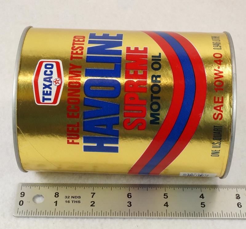 RD14906 Texaco Havoline Supreme Motor Oil Can Coin Bank DSC06452