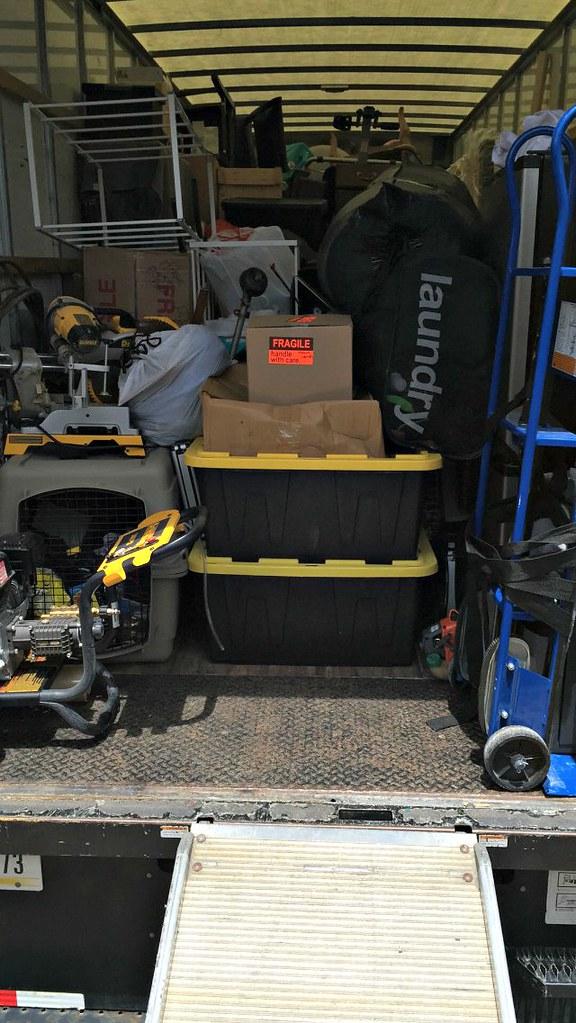 26 ft Penske box truck loaded up for moving