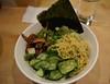 momofuku NYC - ginger scallion noodles – pickled shiitakes, cucumber, cabbage