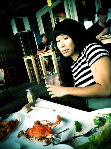 Ana Scared of Crab (September 13 2014)