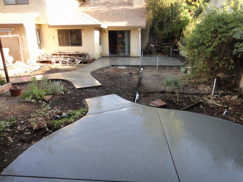 New Concrete Patio, Walkway, And Gazebo Slab In Davis