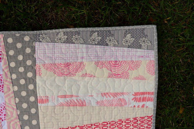 Pink binding detail