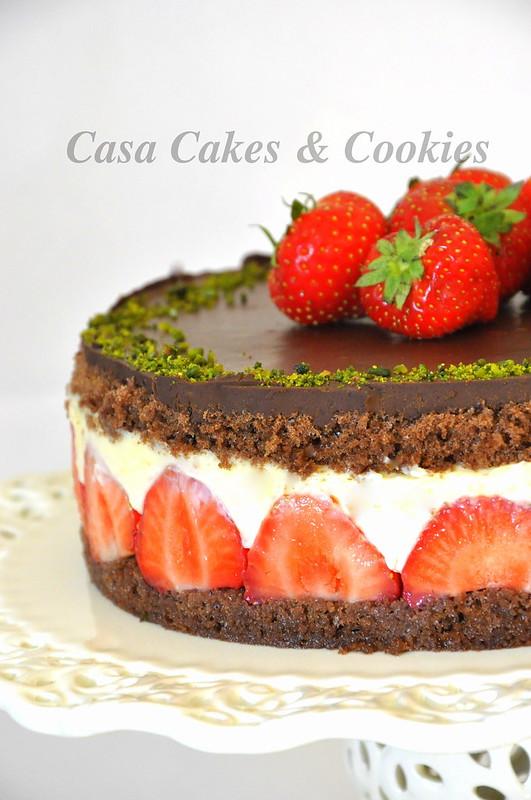 Cilekli kakaolu pasta
