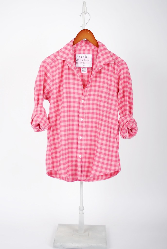The Barry Shirt - Pink on Pink Check Flannel
