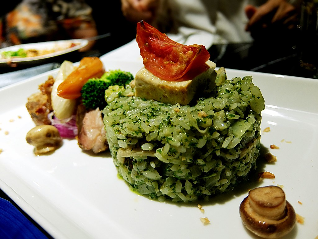 脆皮雞排+青醬飯