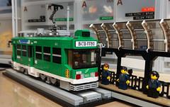 LEGO MOC Sapporo Streetcar Type 8500 tramcar. (Corporate Color)