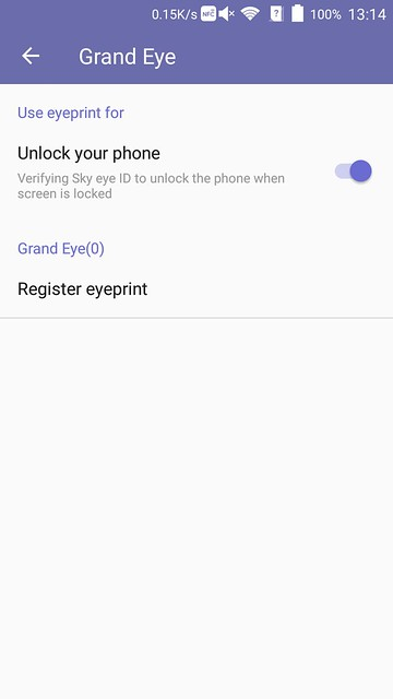 ZTE Axon Elite - Eyeprint