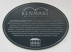 Photo of Lansdowne Arms Hotel and E. J. Moeran grey plaque