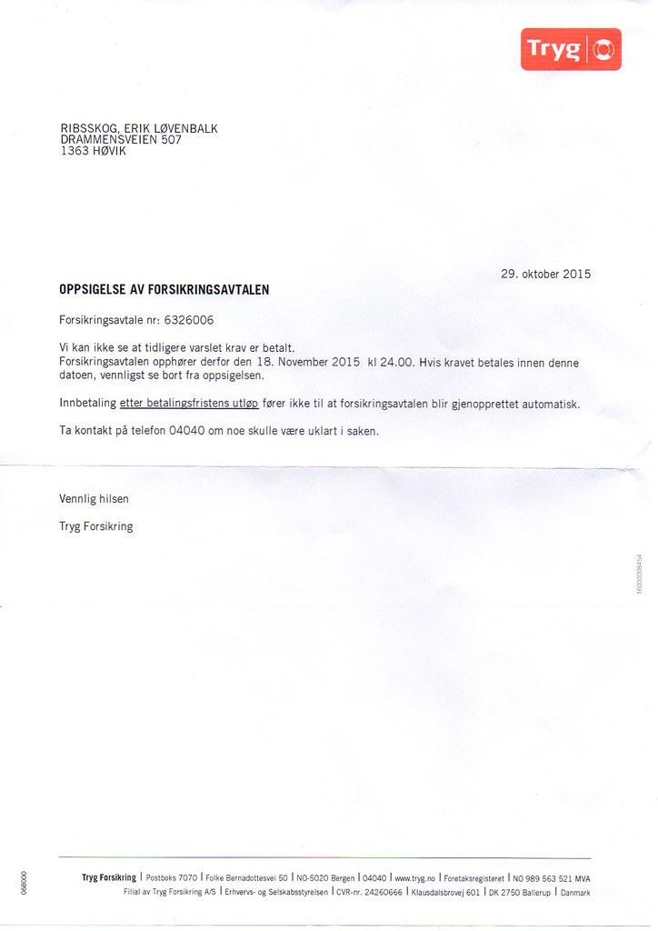 brev fra tryg