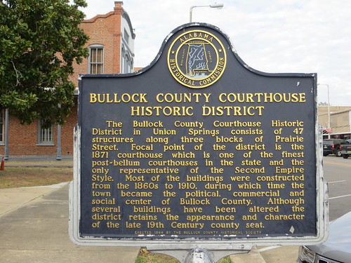Bullock County Courthouse Historic District Marker Union Springs AL