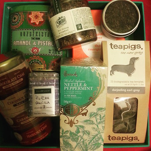 Apparently my friends are aware that I love tea. #spoiled #tealove