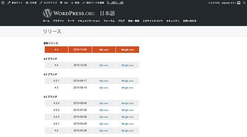 WordPress 4.4 日本語版リリース